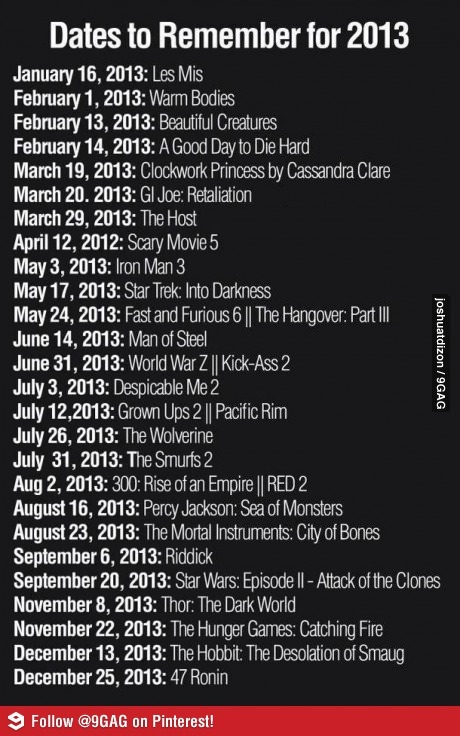 Movies in 2013