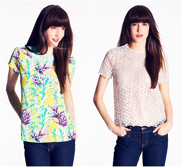 L-R:  Roslyn Top, Shannon Top