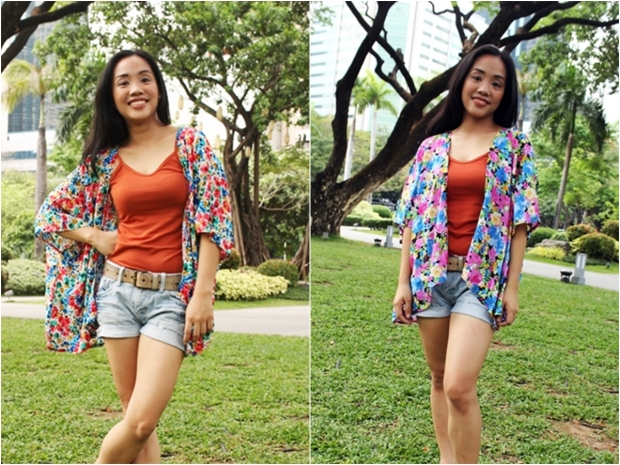 Max and Lily Floral Kimono at P200 each