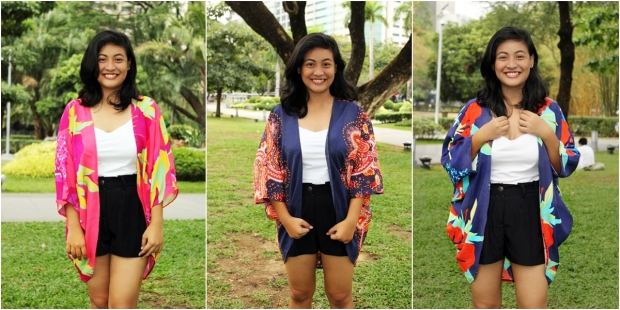 Max and Lily Long Kimono at P250 each