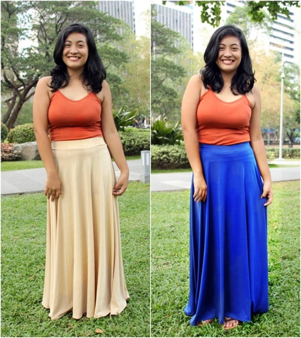 Max and Lily Maxi Skirts at P300 each