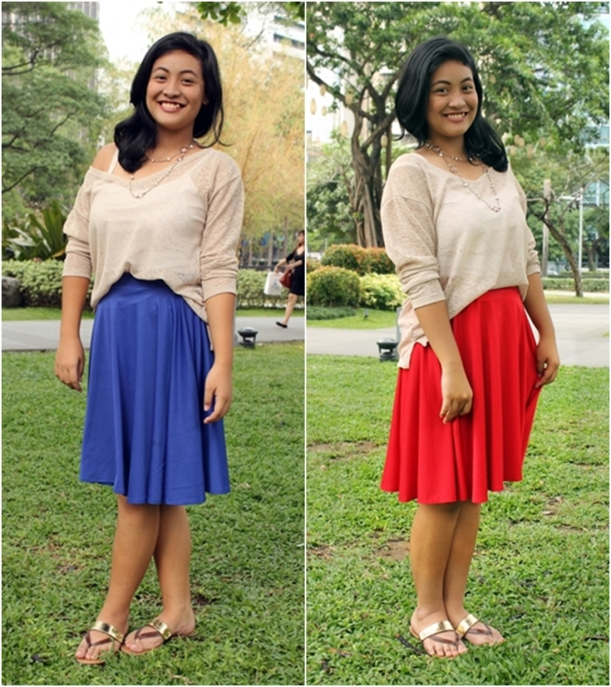 Max and Lily Midi Skirt at P250 each