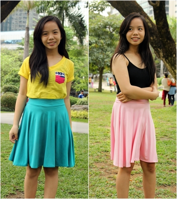 Max and Lily Skater Skirt at P200 each