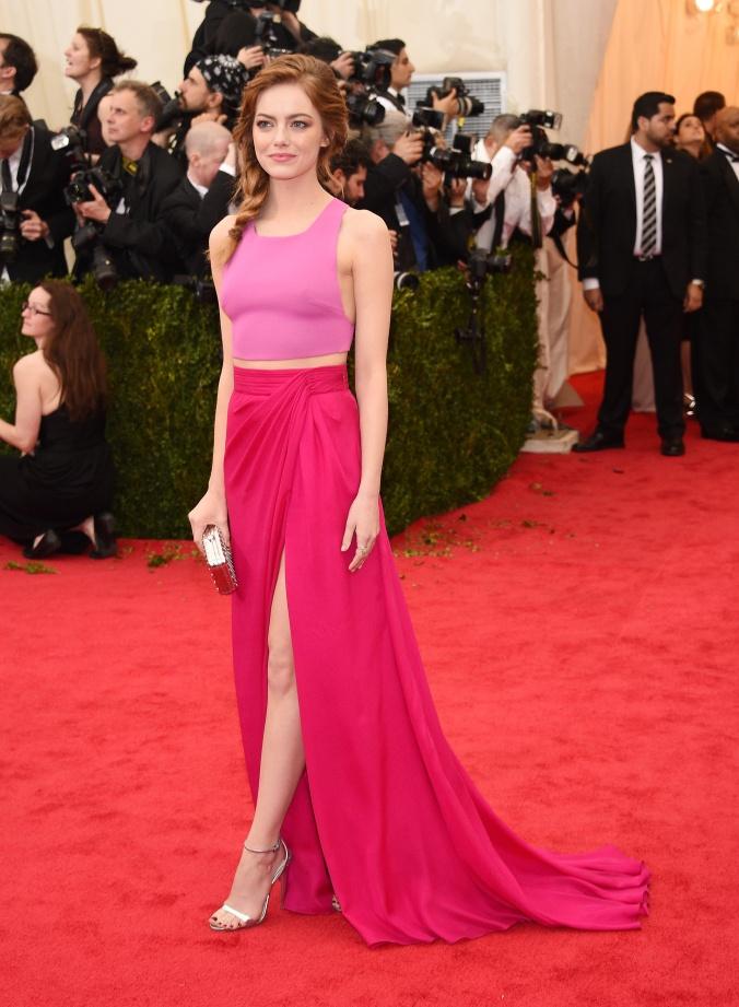 Emma Stone, stunning in pink