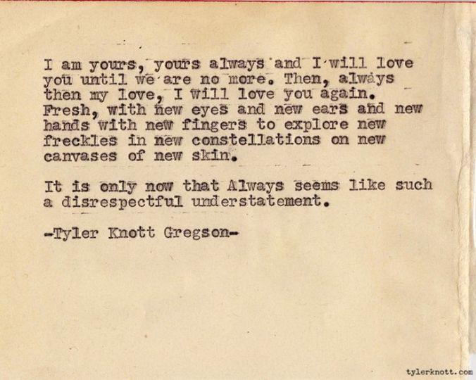 Tyler Knott Gregson - I Am Yours