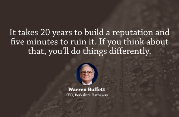 Warren Buffet - On reputation