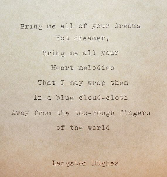 The dream keeper, Langston Hughes
