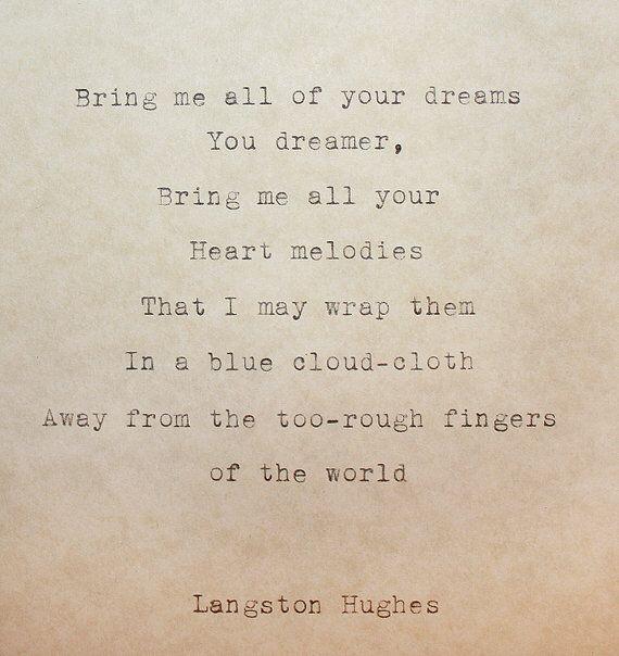 The dream keeper, Langston Hughes