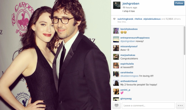 Josh Groban Kat Dennings Instagram