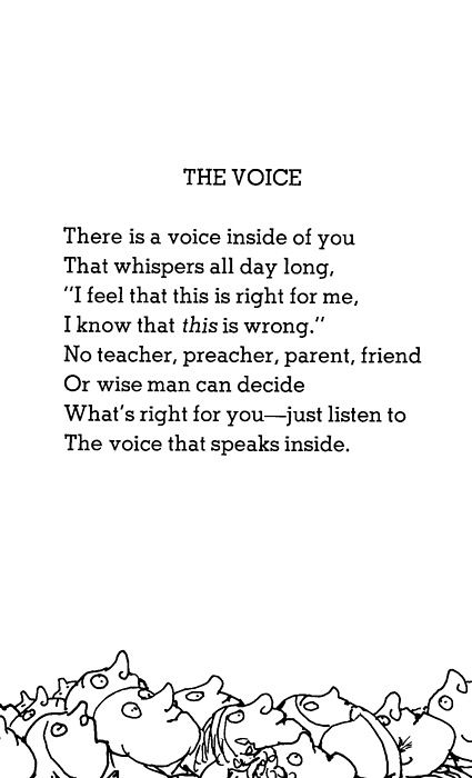 The Voice by Shell Silverstein
