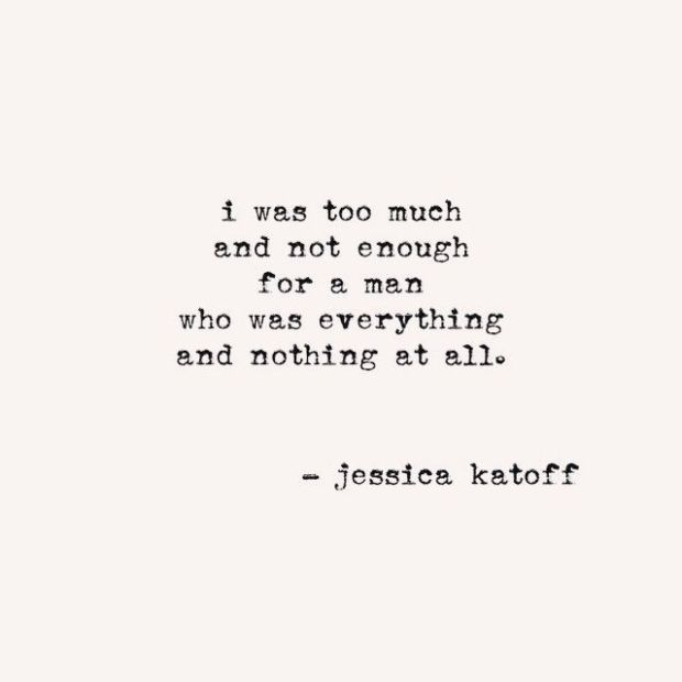 Too much by Jessica Katoff