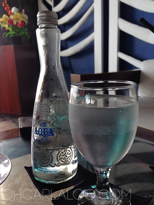 This has to be the most expensive bottle of water we've ever had. This is also one of the prettiest. IDR35,000. You do the math.