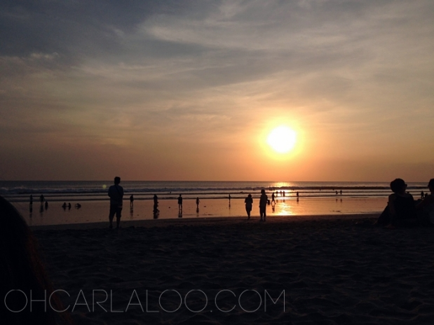 Bali Sunset, take 2. Our view is much better this time, even though this is a public beach.