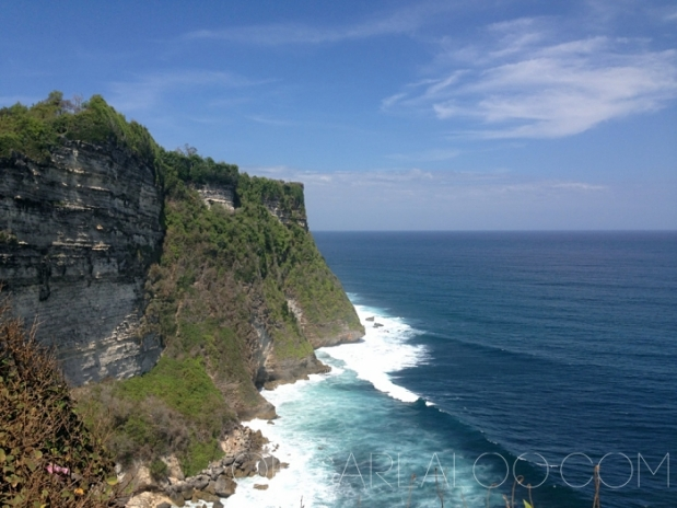 The beautiful cliffs of Uluwatu
