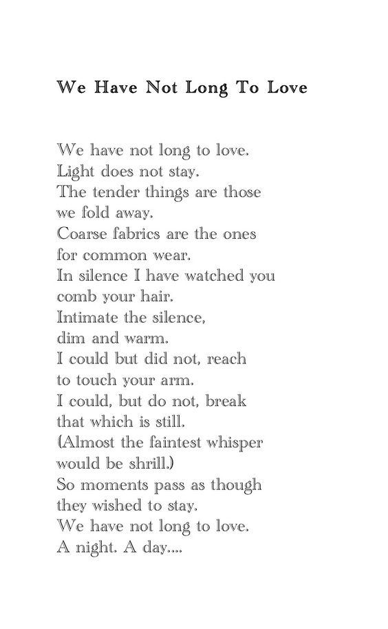 NPM 20160404 Tennessee Williams - We Have Not Long to Love