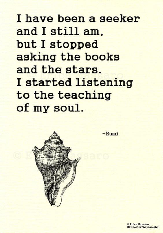 NPM 20160410 I am a seeker - Rumi