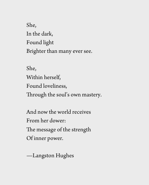NPM 20160420 She - Langston Hughes