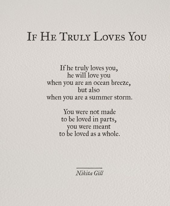 If he truly loves you – the salt of your skin