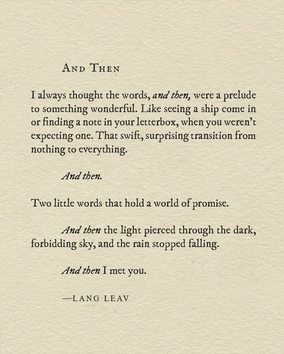 NPM 20160425 And then - Lang Leav