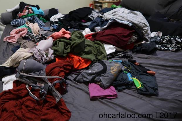 Laundry pile